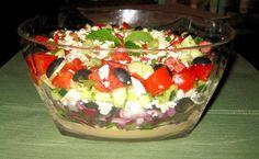 Mediterranean-Hummous Salad Dip