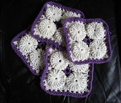 YOYO PUFF INSPIRATION ~Crochet Yo-Yo Puff Ghan Squares {by LadyWillow Designs© by LadyWillow, via Flickr}