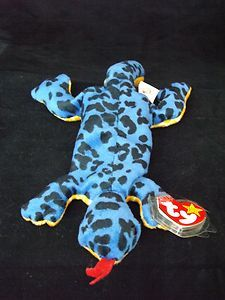 7960e4ab434 NEW 1995 Lizzy the Lizard Ty Beanie Baby Babies RARE PVC Pellets Retired Ty  Babies