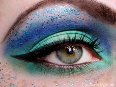Sailor Neptun inspired make up by http://findlingbeet.blogspot.de/2013/03/make-up-dreamz-runde-9-sailor-neptun-amu.html