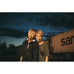 Truck Stop Portraits. Ryota and Taka One Ok Rock, Rock Bands, Memories, Couple Photos, Concert, Music, Instagram Posts, Truck, Portraits
