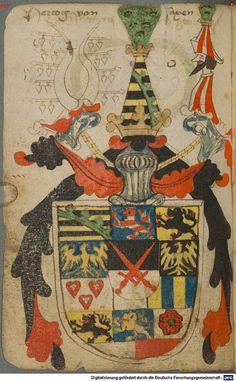 Ortenburger Wappenbuch Bayern, 1466 - 1473 Cod.icon. 308 u  Folio 55v