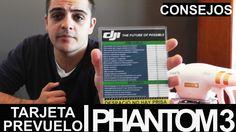 DJI Phantom 3 Tarjeta PRE-VUELO
