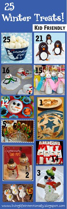25 Winter Treats for kids!