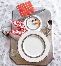 cute christmas table setting