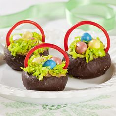 Chocolate Donut Easter Baskets