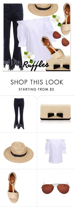 """""""All Ruffled Up 2"""" by paculi ❤ liked on Polyvore featuring Kate Spade, Charlotte Olympia and ruffles"""