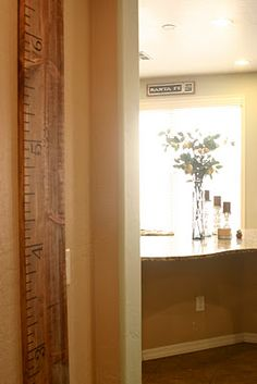 DIY: Oversized Growth Chart Ruler. Darling idea for the growing family