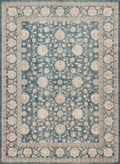 Century CQ-04 Blue Area Rug from the Assorted Transitional Rugs collection at Modern Area Rugs