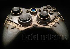 Devin Smith, dono da End Of Line Designs, acaba de dar os últimos retoques nesse incrível controle personalizado para Xbox 360 inspirado em Dishonored.