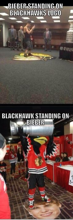 I don't like the Blackhawks at all but this is pretty funny