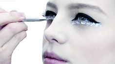 Ooo lol lar… love the sparkling under eye line at , Chanel Spring 2014 Couture. ""