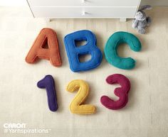 ABC's and 123's Crochet Pillows-4