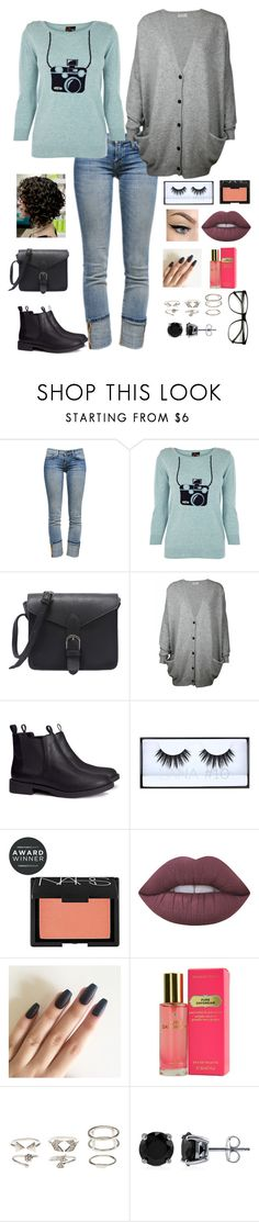 """""""Untitled #105"""" by existential-crisis823 ❤ liked on Polyvore featuring Current/Elliott, Oasis, H&M, Huda Beauty, NARS Cosmetics, Lime Crime, Victoria's Secret, Charlotte Russe and BERRICLE"""