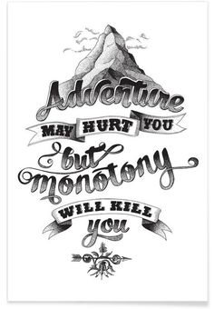 Adventure hand-lettering als Premium Poster von The True Type | JUNIQE