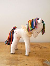 Rainbow pony by Jess Quinn