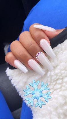 Mar 9 2020 -  #shortGelNails haircuts for every face make-up for thererrrs ... #acrylic #acrylicnails #gel #nail #sha... #AcrylicNailsGlitter Acrylic Nails Coffin Short, Simple Acrylic Nails, White Acrylic Nails, Coffin Nails, White Acrylics, Ballerina Acrylic Nails, Nail Pink, White Nail, Aycrlic Nails