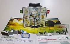 LG 냉장고 팝업 브로셔 pop up card