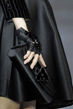 Fabulous Black Gloves and Clutch
