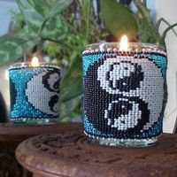 Yin Yang Beaded Candle pattern and Kit. (Click on the picture to see this item on our website). $17.95