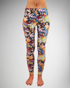 Dc Comic Leggings - Let's face it: Leggings are here to stay and that's a good thing. But we need to get away from boring colours and into these!