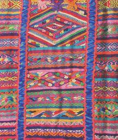 Usila Weaving Oaxaca    Detail showing the fine and colorful weavings of a gala huipil from the Chinantec community of San Felipe Usila, Oaxaca.