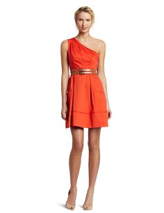 Just bought this dress for a wedding this summer, love it!  (Mine is a salmon pink ~ by Jessica Simpson)