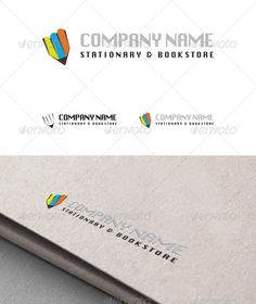 Stationary&Bookstore Logo  #GraphicRiver         A logo design for Stationary&Bookstore.    EPS file   Font   Resizable       Created: 5March13 GraphicsFilesIncluded: VectorEPS #Font Layered: Yes MinimumAdobeCSVersion: CS5 Resolution: Resizable Tags: bookstore #colorful #font #pen #pencil #school #schoolstore #shop #stationary #store #supplies