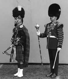 Canadian Guards Pipe and drum majors 1967 #0495
