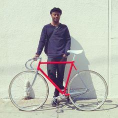red bike beauty