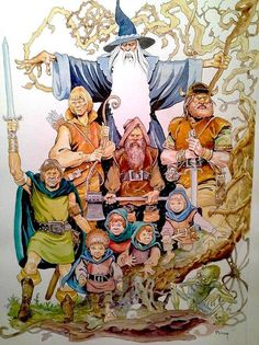Ralph Bakshi - The Lord of the Rings art by Mike Ploog