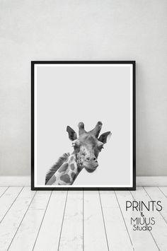 Giraffe Animal Print Safari Nursery Boys Room by PrintsMiuusStudio