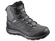 Salomon Womens Kaina Mid CS WP 2 Snow Boots Autobahn  Asphalt  Pale Lilac 10 and Free Collapsing Waterbottle Bundle -- For more information, visit image link.
