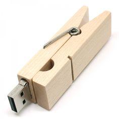 Wood Peg Shape Novelty USB Flash Drive Memory Stick Gift Present
