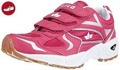 Lico BOB V, Mädchen Hallenschuhe, Pink (pink/weiss/silber), 34 EU - Lico schuhe (*Partner-Link)