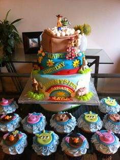 edible cupcake toppers toy story inspired by pinkaliciousshop, $23.00