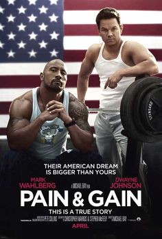 """Pain & Gain -- a 2013 American crime film directed by Michael Bay and starring Mark Wahlberg and Dwayne Johnson. This movie is said to be based on a true story and compiled in Collins' 2013 book """"Pain & Gain – This is a True Story"""" The Rock Dwayne Johnson, Rock Johnson, Dwayne The Rock, Dwayne Johnson Movies, Great Movies, New Movies, Movies Online, Movies And Tv Shows, Funny Movies"""