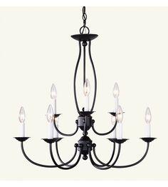 Livex Lighting Home Basics 9 Light Chandelier in Bronze 4159-07 #lightingnewyork #lny #lighting
