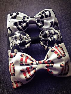 One Direction  fabric bow tie hair bow