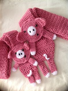 SALE2in1 TWO pig scarves one junior and adult size by missdee1, $60.00