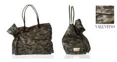 Bag by Valentino: black lace and leather | Answer a few questions, reduce the price and buy! | The price? You choose!