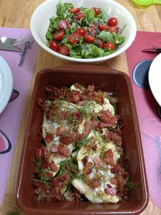 Italiaanse kabeljauw Fish Recipes, Lunch Recipes, Healthy Recipes, Fast Food, Fish Dishes, Vegan Foods, Dessert, Creative Food, Easy Cooking