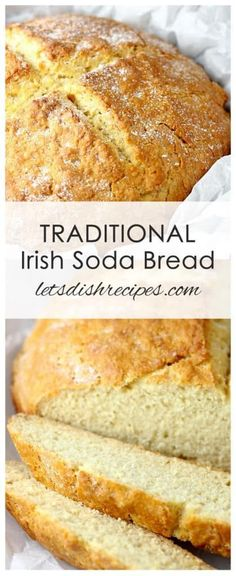 Traditional Irish Soda Bread & Let& Dish Recipes Traditional Irish Soda Bread Recipe: This Traditional Irish soda bread is made with just a few simple ingredients but bakes up into a beautiful, bakery quality loaf. The post Traditional Irish Soda Bread Irish Bread, Recipe For Irish Soda Bread, Easy Soda Bread Recipe, Simple Scone Recipe, Best Bread Recipe, Easy Bread Recipes, Traditional Irish Soda Bread, Traditional Irish Recipes, Traditional Bread Recipe