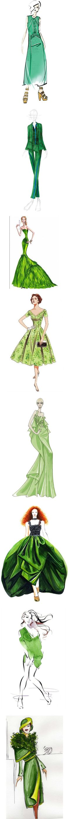 """""""Drawing in thones of green"""" by andrulitza ❤ liked on Polyvore"""