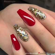 Wedding Nails Glitter Gold Manicures 15 New Ideas Gold Manicure, Gold Acrylic Nails, Gold Glitter Nails, Red Glitter, Wedding Nails For Bride, Bride Nails, Prom Nails, Mauve Wedding, Perfect Nails