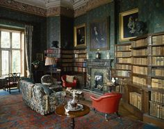 Dunster Castle Library via Treasure Hunt, National Trust Collections