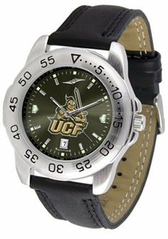 Central Florida Golden Knights UCF NCAA Mens Sport Anochrome Watch by SunTime. $47.00. Adjustable Band. Leather Band. Officially Licensed Central Florida Golden Knights Men's Leather Band Sports Watch. Men. AnoChrome Dial Enhances Team Logo And Overall Look. This handsome eye-catching Mens Sport AnoChrome Watch with Leather Band comes with a genuine leather strap. A date calendar function plus a rotating bezel/timer circles the scratch resistant crystal. Sport the bold c...