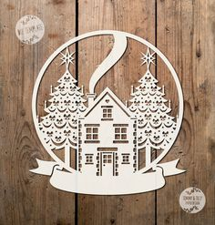 40% SALE SVG / PDF Christmas Scene Globe Design Papercutting