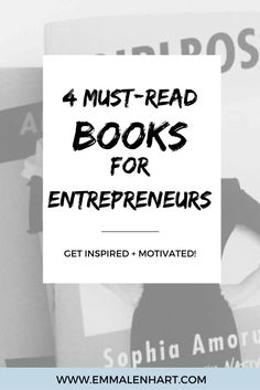 Looking for a book to shake up the way you look at your biz as an entrepreneur? I'm sharing my favorite four books about entrepreneurship that do just that. Click through this pin to read the full post and see the books that changed my entrepreneurial mindset! #onlinebusiness #followback #startup