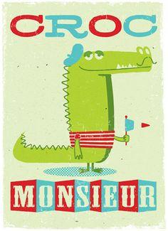 (I love it!) 'Croc' Monsieur! By Peskimo